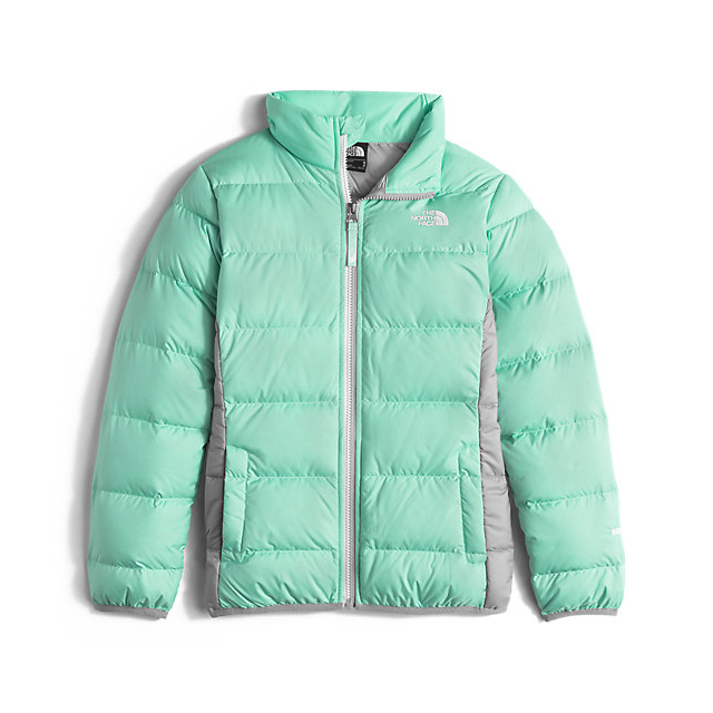 CHEAP NORTH FACE GIRLS' ANDES DOWN JACKET ICE GREEN ONLINE