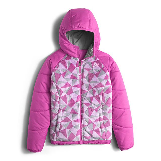 CHEAP NORTH FACE GIRLS' REVERSIBLE PERSEUS JACKET WISTERIA PURPLE TRIANGLE CAMO ONLINE