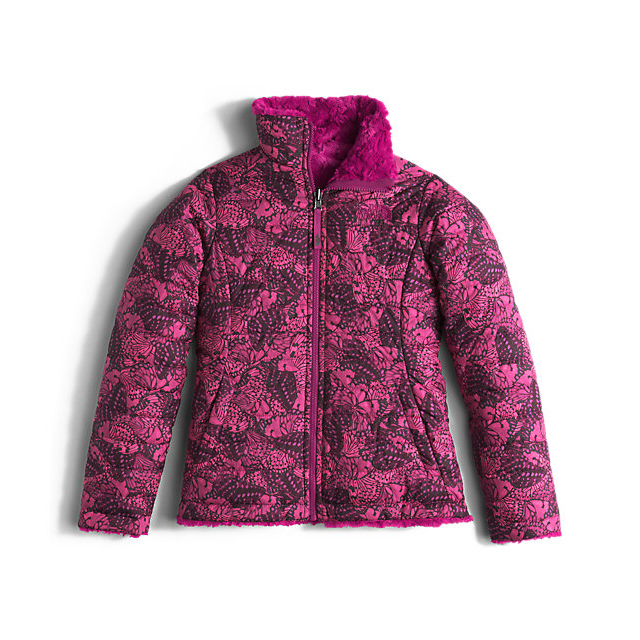 CHEAP NORTH FACE GIRLS\' REVERSIBLE MOSSBUD SWIRL JACKET ROXBURY PINK BUTTERFLY CAMO ONLINE
