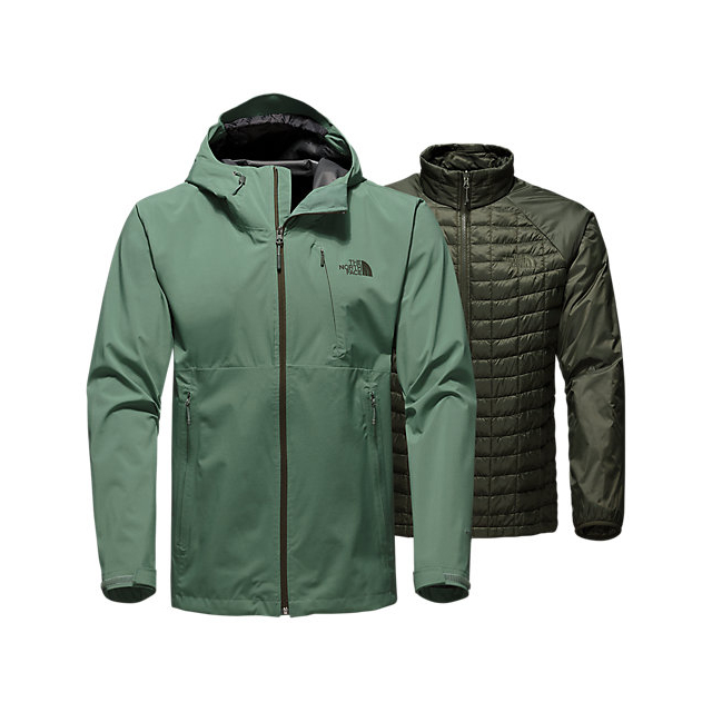 CHEAP NORTH FACE MEN'S THERMOBALL  TRICLIMATE  JACKET DUCK GREEN ONLINE