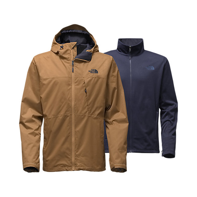 CHEAP NORTH FACE MEN'S ARROWOOD TRICLIMATE  JACKET DIJON BROWN ONLINE