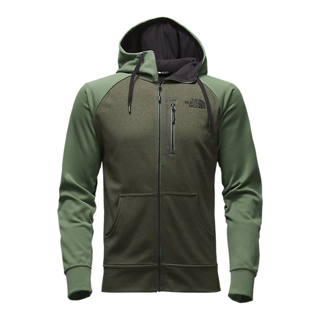 CHEAP NORTH FACE MEN'S MACK MAYS FULL ZIP HOODIE CLIMBING IVY GREEN DARK HEATHER (STD)/DUCK GREEN ONLINE