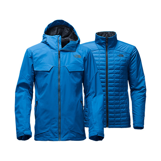 CHEAP NORTH FACE MEN'S INITIATOR THERMOBALL TRICLIMATE JACKET BOMBER BLUE ONLINE