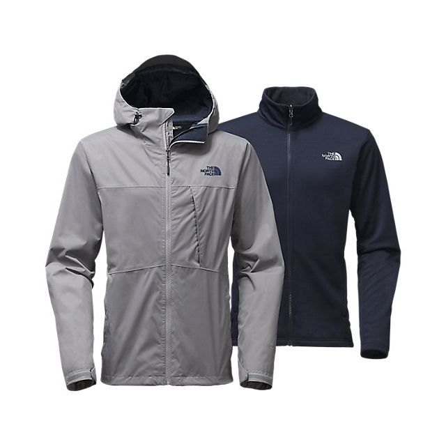 CHEAP NORTH FACE MEN'S ARROWOOD TRICLIMATE JACKET MID GREY/URBAN NAVY ONLINE