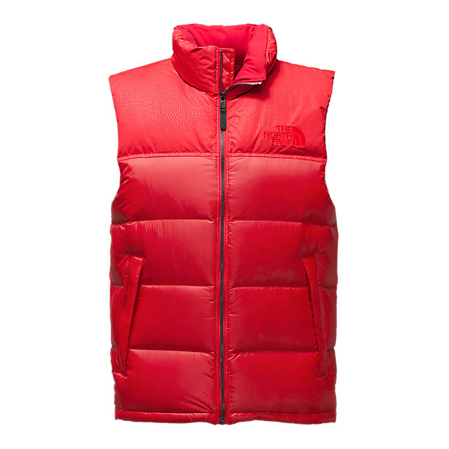 CHEAP NORTH FACE MEN'S NUPTSE SPECIAL EDITION VEST RED/RED CROC EMBOSS ONLINE