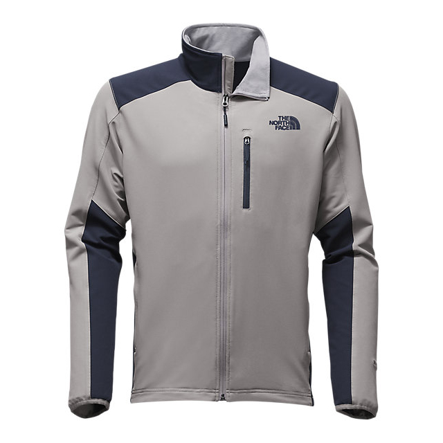 CHEAP NORTH FACE MEN'S APEX PNEUMATIC JACKET MID GREY/URBAN NAVY ONLINE
