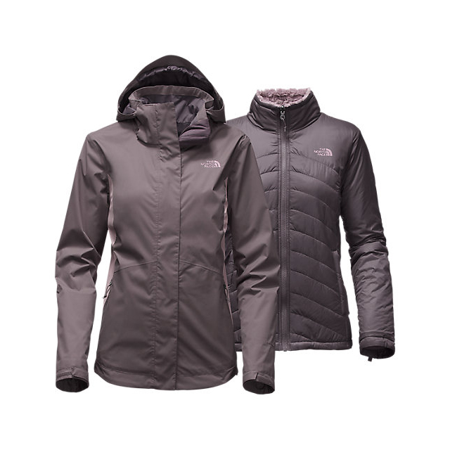 CHEAP NORTH FACE WOMEN\'S MOSSBUD SWIRL TRICLIMATE  JACKET RABBT GREY/QUAIL GREY ONLINE