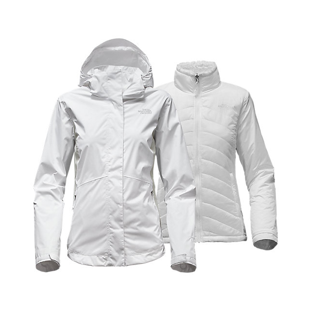 CHEAP NORTH FACE WOMEN'S MOSSBUD SWIRL TRICLIMATE  JACKET WHITE/LUNAR ICE GREY ONLINE