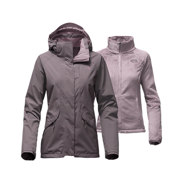 CHEAP NORTH FACE WOMEN'S BOUNDARY TRICLIMATE  JACKET RABBIT GREY ONLINE