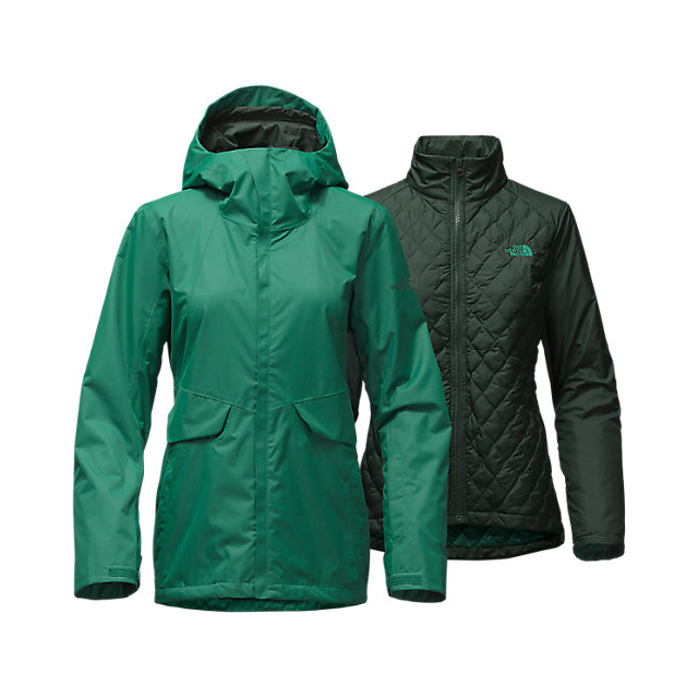 CHEAP NORTH FACE WOMEN'S INITIATOR THERMOBALL  TRICLIMATE  JACKET CONIFER TEAL ONLINE