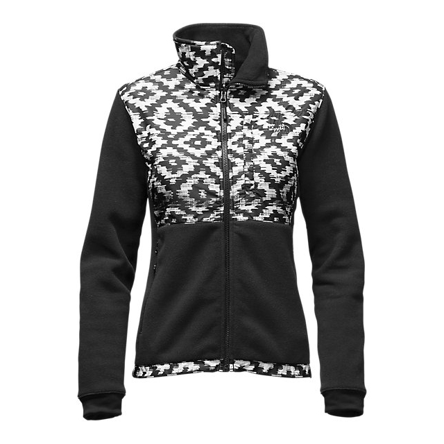 CHEAP NORTH FACE WOMEN'S DENALI 2 JACKET BLACK D-KAT PRINT/BLACK ONLINE
