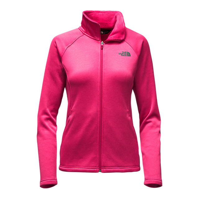 CHEAP NORTH FACE WOMEN'S AGAVE FULL ZIP CERISE PINK HEATHER ONLINE