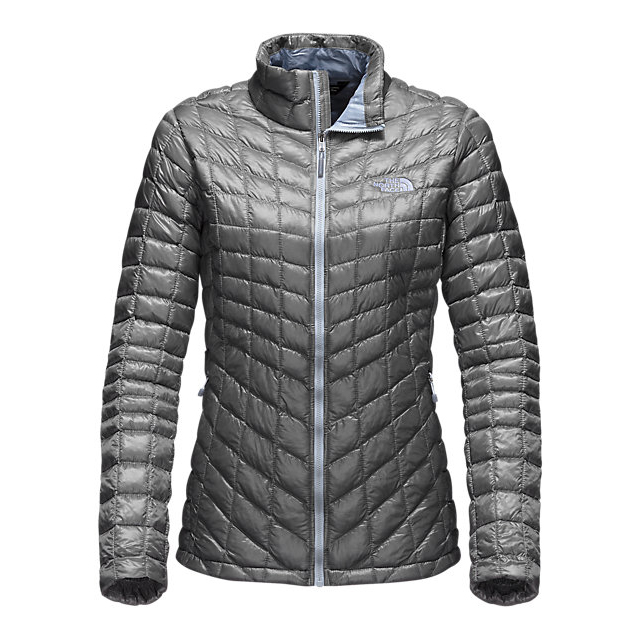 CHEAP NORTH FACE WOMEN'S THERMOBALL  FULL ZIP JACKET (EXCLUSIVE COLORS) MID GREY/ARCTIC ICE BLUE ONLINE