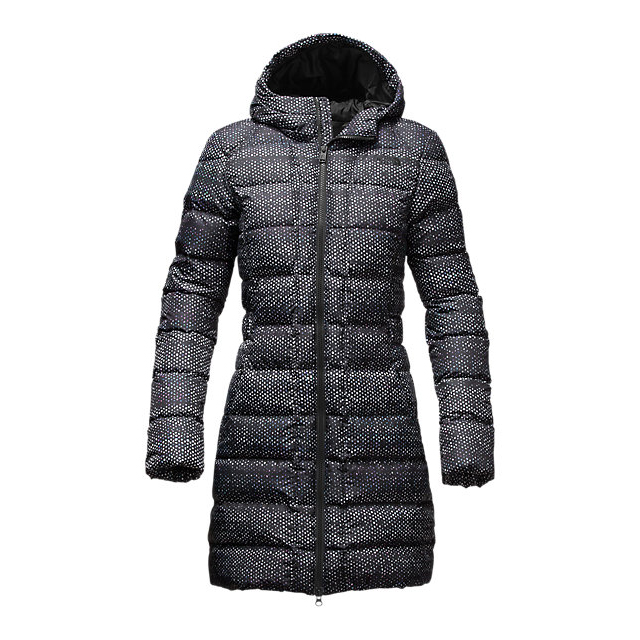 CHEAP NORTH FACE WOMEN'S GOTHAM PARKA BLACK DONEGAL PRINT ONLINE