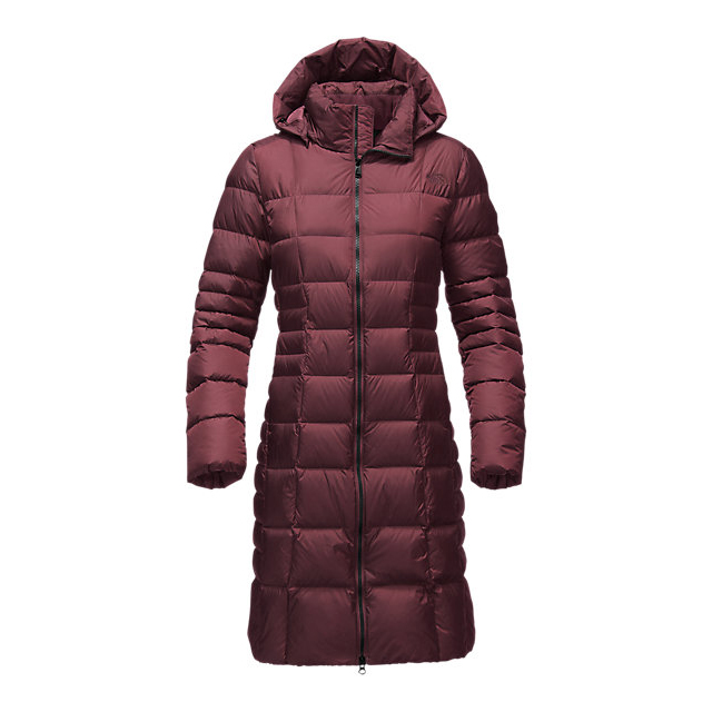 CHEAP NORTH FACE WOMEN'S METROPOLIS PARKA II (NEW) DEEP GARNET RED ONLINE