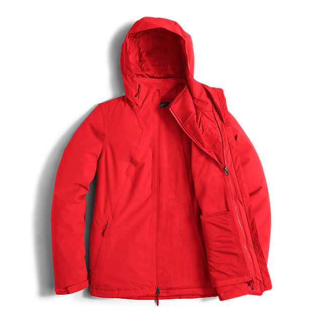 CHEAP NORTH FACE WOMEN\'S HIGHANDDRY TRICLIMATE JACKET HIGH RISK RED ONLINE