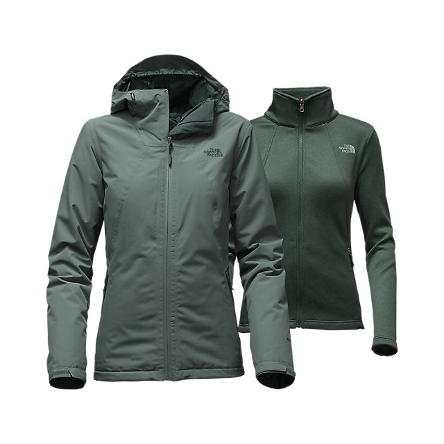 CHEAP NORTH FACE WOMEN'S HIGHANDDRY TRICLIMATE JACKET BALSAM GREEN/DARKEST SPRUCE ONLINE