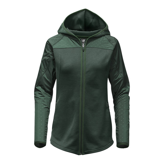 CHEAP NORTH FACE WOMEN'S SPARK FULL-ZIP HOODIE DARKEST SPRUCE/DARKEST SPRUCE HEATHER ONLINE