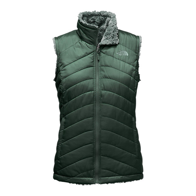 CHEAP NORTH FACE WOMEN'S MOSSBUD SWIRL REVERSIBLE VEST DARKEST SPRUCE/BALSAM GREEN ONLINE