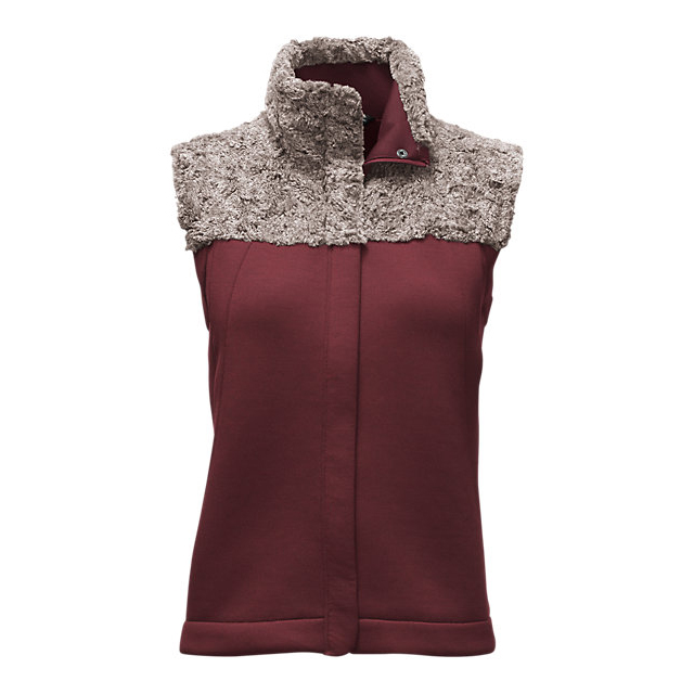 CHEAP NORTH FACE WOMEN'S HYBRINATION THERMAL 3D VEST DEEP GARNET RED BLACK HEATHER ONLINE