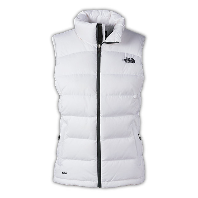 CHEAP NORTH FACE WOMEN'S NUPTSE 2 VEST WHITE / ASPHALT GREY ONLINE